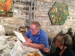 Mr Tom MacSwiggan himself! Enjoying the lunch at the Irish Cultural Centre.