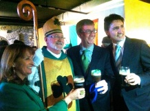 Look at the important people here! St Patrick! I suppose the Mayor of Ottawa and the PM wanted to get a pic with him!
