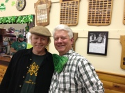 Pat Maher with Dai Bassett the MC for the day in Dacre