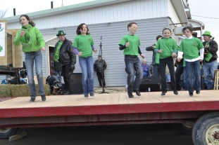 Stepping it out at the Douglas St Patrick's day parade!